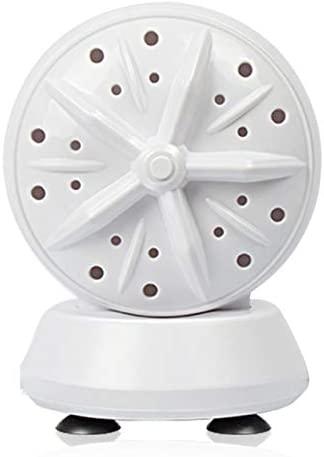 Cuculo Mini Máquina De Lavar Roupa,Máquina de lavar portátil de viagem Mini máquina de lavar roupa de alta potência Lavadora ondulante de turbina dupla 24W