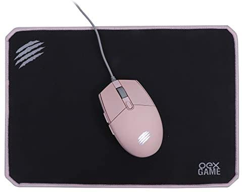 Kit Gamer Combo Arya Mouse 2400 DPI + Mousepad Speed Rosa MC104 OEX