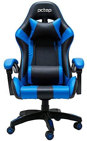 Cadeira Gamer PCTOP Azul e Preto - A6022-1-RE, Médio