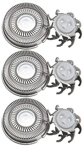 Beaupretty 3 peças de cabeças de substituição para barbeador elétrico, corte fácil para todas as lâminas padrão 2