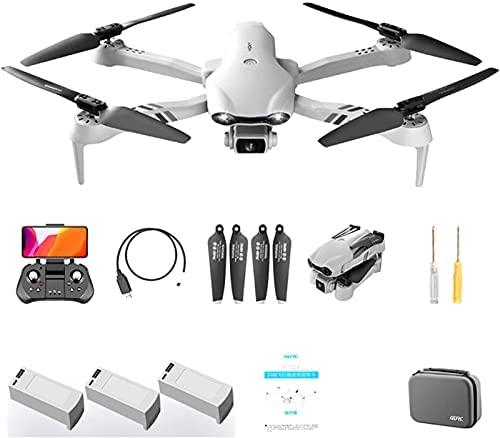 Drone com Câmera 1080P HD, Drone Dobrável QUANXI F10 5G FPV, WiFi Quadrocopter RC Grande Angular de 120 ° / Longo Tempo de Voo /3D Flip / Pouso de Emergência, Modo sem Cabeça para Iniciantes (3 * baterias)