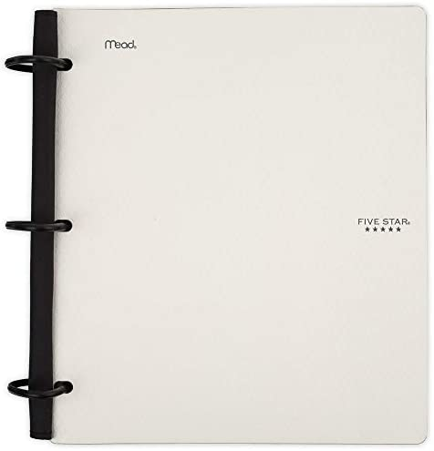 Fichário híbrido flexível NoteBinder Five Star, fichário de 3,8 cm, caderno e fichário dois em um, branco (29324AE2)