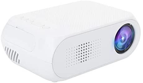 Fockety Projetor HD, reprodutor de mídia 1080p projetor de LED portátil, videogame para assistir TV, entretenimento em casa, esportes (regulamentações dos EUA)
