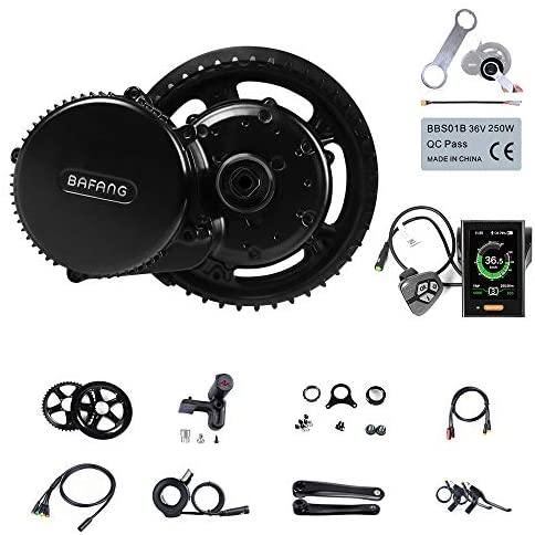 Greenergia BAFANG BBSHD BBS02B 1000 W 750 W 500 W kit de conversão de bicicleta elétrica LCD velocímetro com ferramenta de ebike como um kit de presente DIY ebike