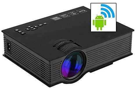 Mini Projetor Led Portátil Wifi 1800lumens Datashow Hdmi Vga Favix Uc68 Wlxy