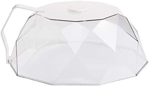 OSALADI Tampa da placa de microondas para microondas com tampa de microondas para proteção contra respingos de água e microondas para alimentos com alça (branca)
