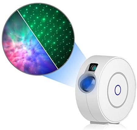 WESSD Projetor LED Gypsophila com luz noturna, projetor Galaxy com controle remoto para salas de jogos, home theater, quarto ou ambiente com luz noturna
