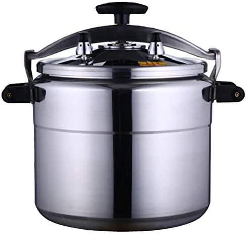 Yardwe Panela de Pressão Elétrica Fogão Panela de Pressão Leve Regulador de Válvula de Liberação Rápida Para Cozinhar A Vapor para Cozinha (Prata 9L)